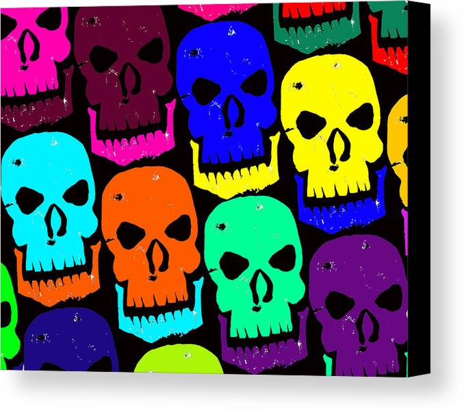 Halloween! Canvas Print featuring the photograph Skulls by Jame Hayes