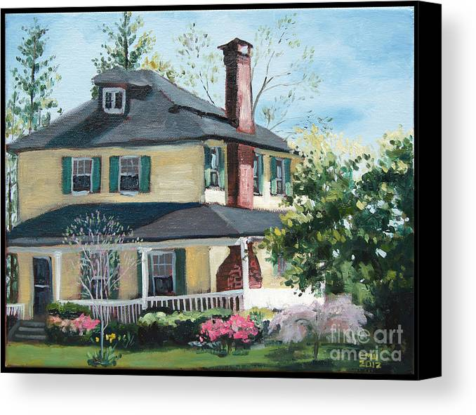 Catonsville Canvas Print featuring the painting Spring by Edward Williams
