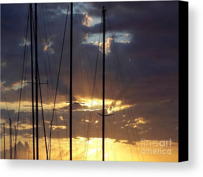 Sunlight - Ile De La Reunion - Reunion Island - Ocean Indien - Indian Ocean Canvas Print featuring the photograph Sunlight - Ile De La Reunion by Francoise Leandre