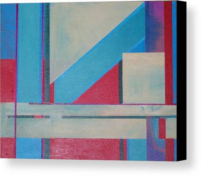 Landscape Canvas Print featuring the painting Untitled by Michael Darpino