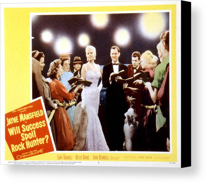 1957 Movies Canvas Print featuring the photograph Will Success Spoil Rock Hunter, Jayne by Everett