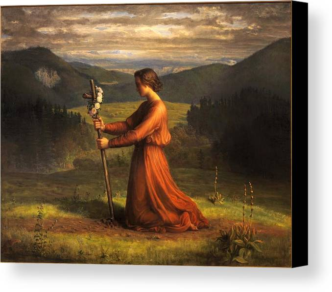 Louis Janmot - Poem Of The Soul 18 - Reality Canvas Print featuring the painting Poem Of The Soul by MotionAge Designs