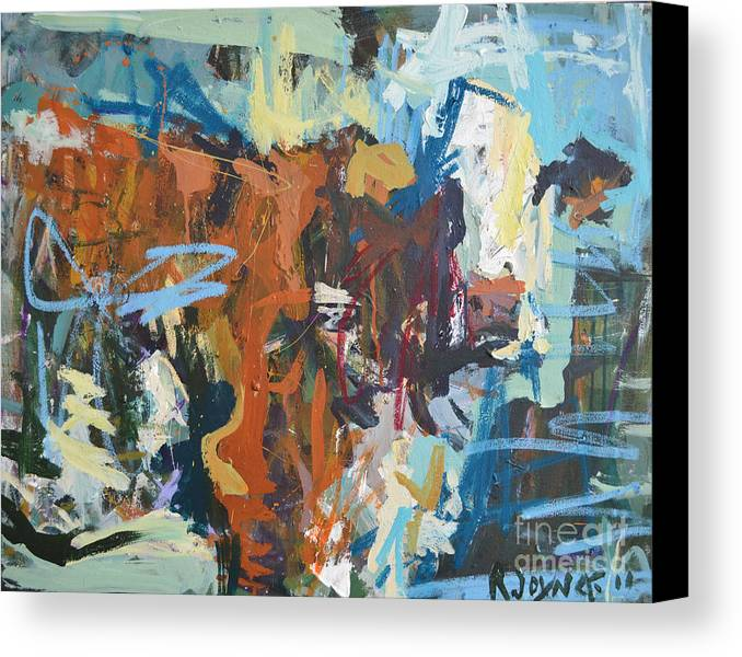 Art Canvas Print featuring the painting Mixed Media Cow Painting by Robert Joyner