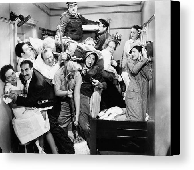 1935 Canvas Print featuring the photograph The Marx Brothers, 1935 by Granger