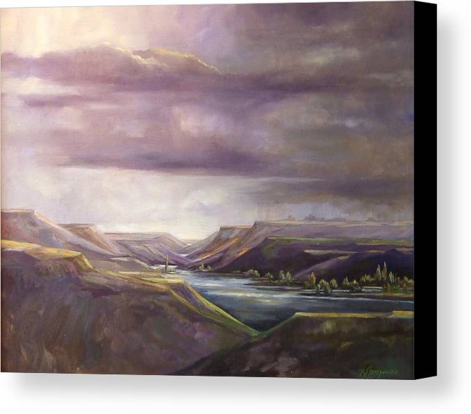 Lansdcape Canvas Print featuring the painting Vantage Vista by Ruth Stromswold