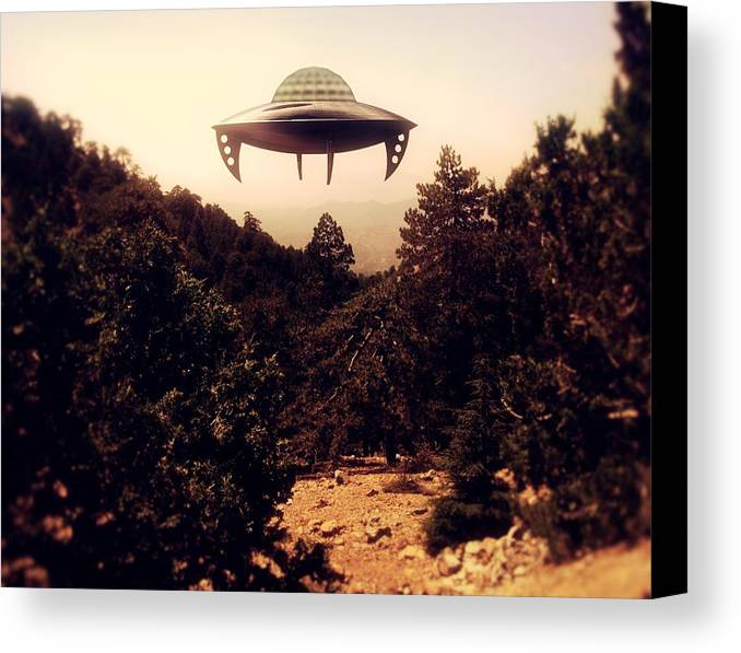 Ufo Canvas Print featuring the photograph Ufo Sighting by Raphael Terra