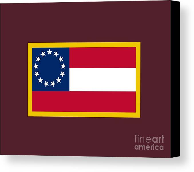 Flag Canvas Print featuring the digital art 1st Confederate Flag by Frederick Holiday