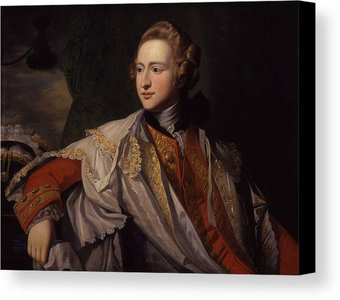 Francis Osborne Canvas Print featuring the painting Duke Of Leeds By Benjamin West by Francis Osborne