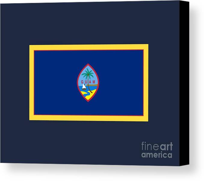Flag Canvas Print featuring the digital art Guam Flag by Frederick Holiday