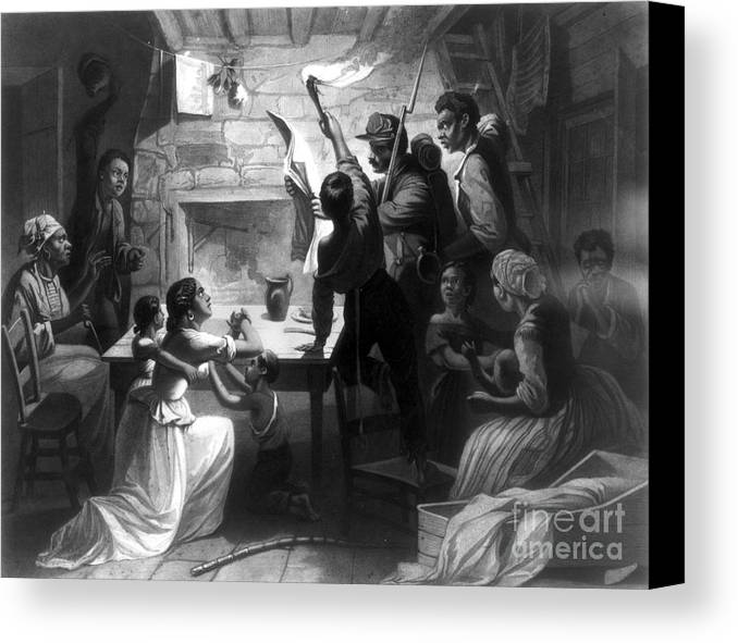 1863 Canvas Print featuring the photograph Emancipation Proclamation by Granger