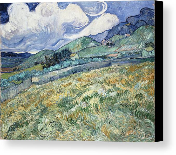 Van Gogh Canvas Print featuring the photograph Landscape From Saint-remy by Vincent van Gogh