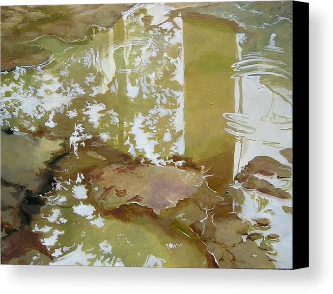 Rain Canvas Print featuring the painting After The Rain by Denise Ivey Telep