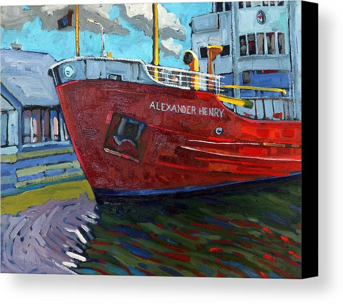 Alexander Canvas Print featuring the painting Alexander Henry by Phil Chadwick
