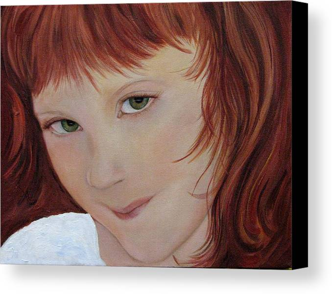Portrait Canvas Print featuring the painting Andee by Aimee Vance