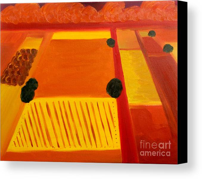 Abstract Canvas Print featuring the painting Aproaching Storm - Sold by Paul Anderson