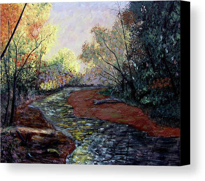 Fall Canvas Print featuring the painting Autumn Road by Stan Hamilton