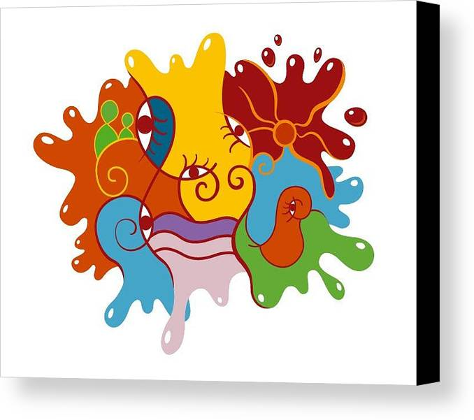 Abstract Prints Canvas Print featuring the digital art Babylon - Evolution by Quique Matos