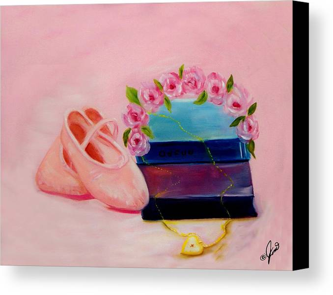 Ballet Canvas Print featuring the painting Ballet Still Life by Joni M McPherson