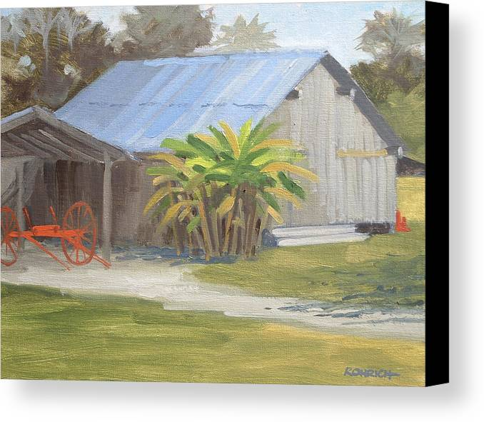 Barn Canvas Print featuring the painting Barberville Barn by Robert Rohrich