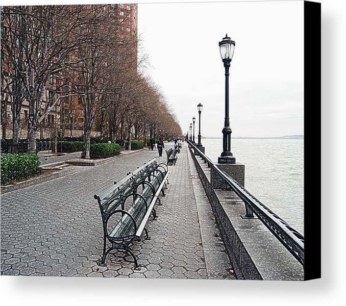 Cityscape Canvas Print featuring the photograph Battery Park by Michael Peychich