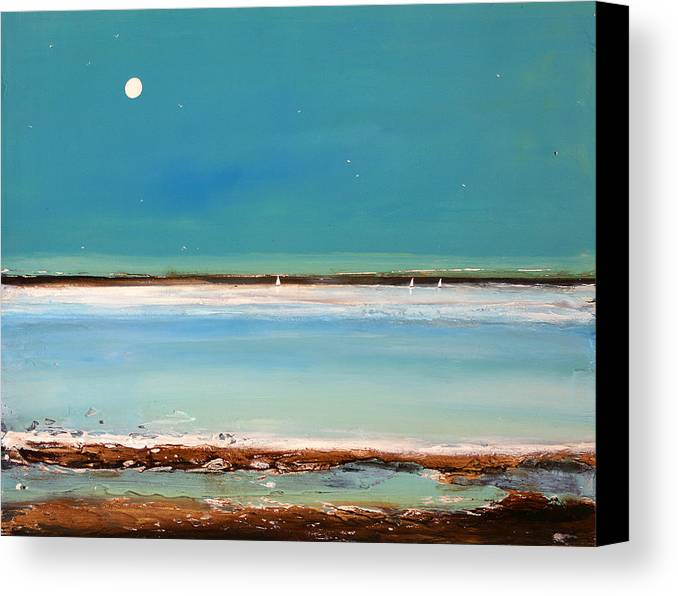 Landscape Canvas Print featuring the painting Beach Textures by Toni Grote