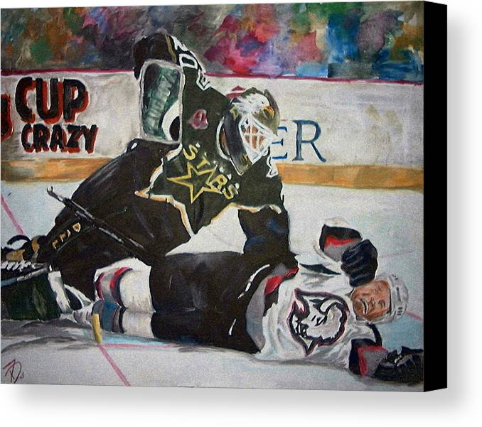 Belfour Canvas Print featuring the painting Belfour by Travis Day