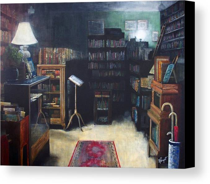 Library Canvas Print featuring the painting Bibliopoly by Victoria Heryet