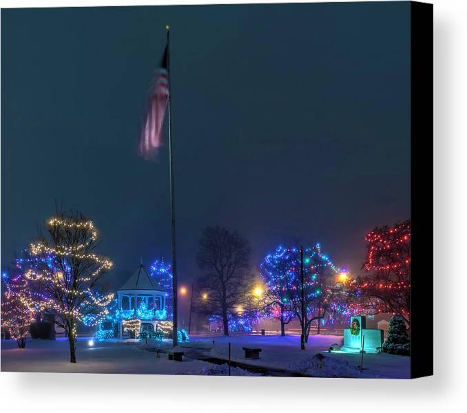 Civil Canvas Print featuring the photograph Billerica Common 002 by Jeff Stallard