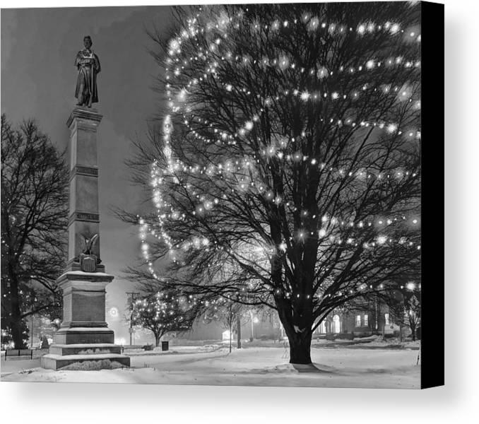 Civil Canvas Print featuring the photograph Billerica Common 004 by Jeff Stallard