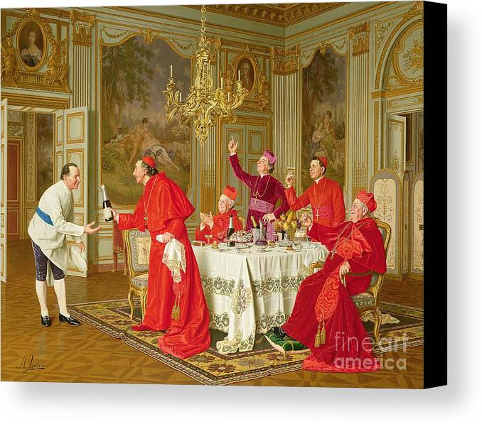 Louis Xiv's Apartments At Versailles Canvas Print featuring the painting Birthday by Andrea Landini