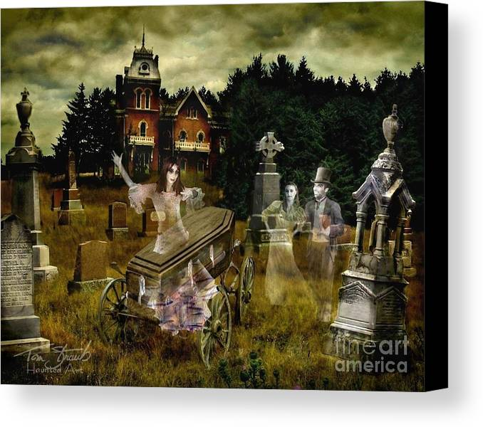 Ghosts Canvas Print featuring the photograph Black Fly by Tom Straub