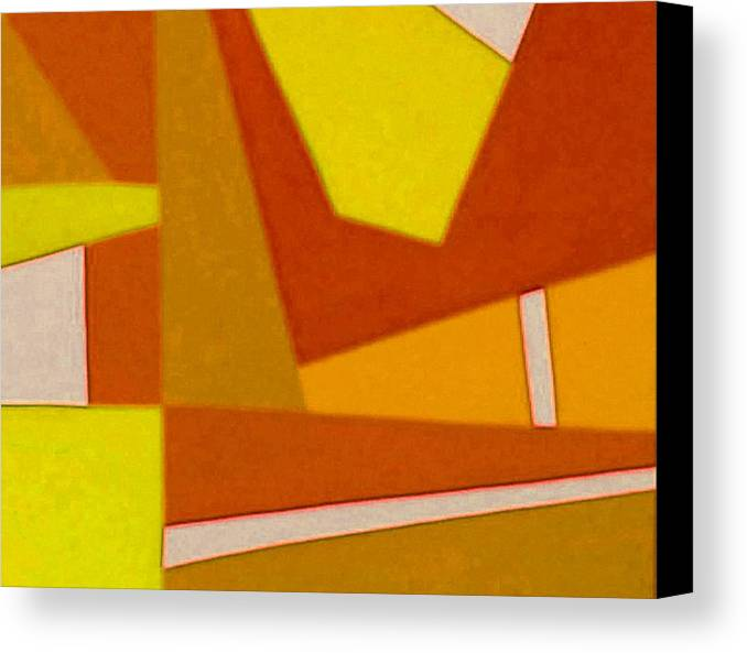Abstract Canvas Print featuring the photograph Blue Alert Detail 3 by Dick Sauer