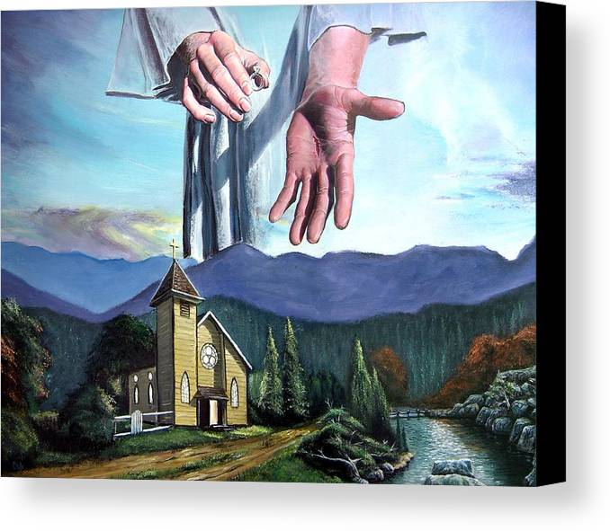Bridegroom Canvas Print featuring the painting Bridegroom by Larry Cole