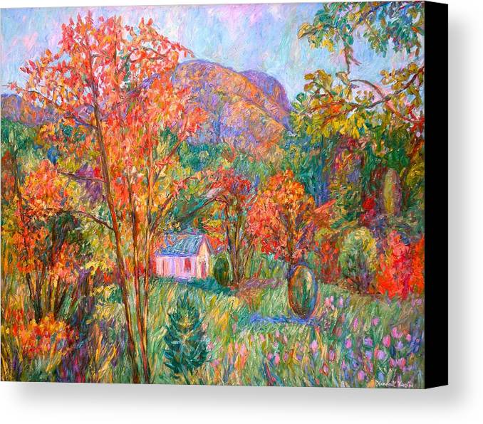Landscape Canvas Print featuring the painting Buffalo Mountain In Fall by Kendall Kessler