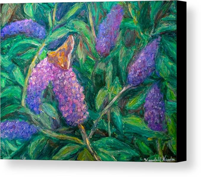 Butterfly Canvas Print featuring the painting Butterfly View by Kendall Kessler