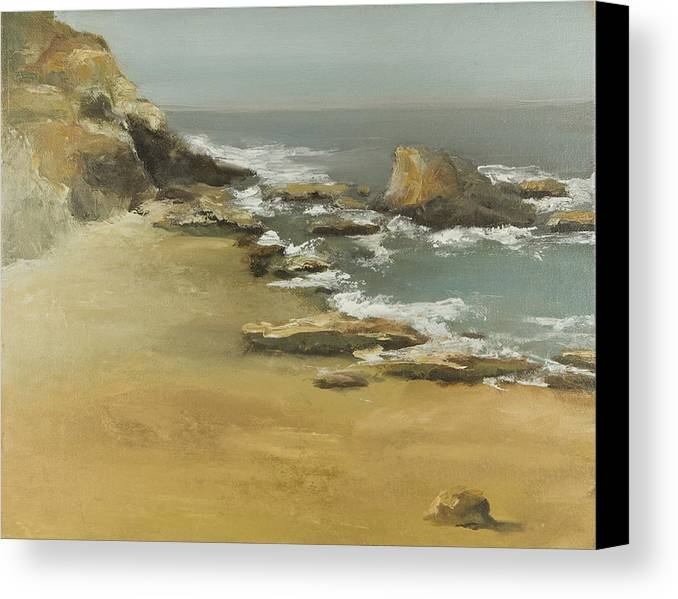Seascape Canvas Print featuring the painting California Coast by Joni Herman