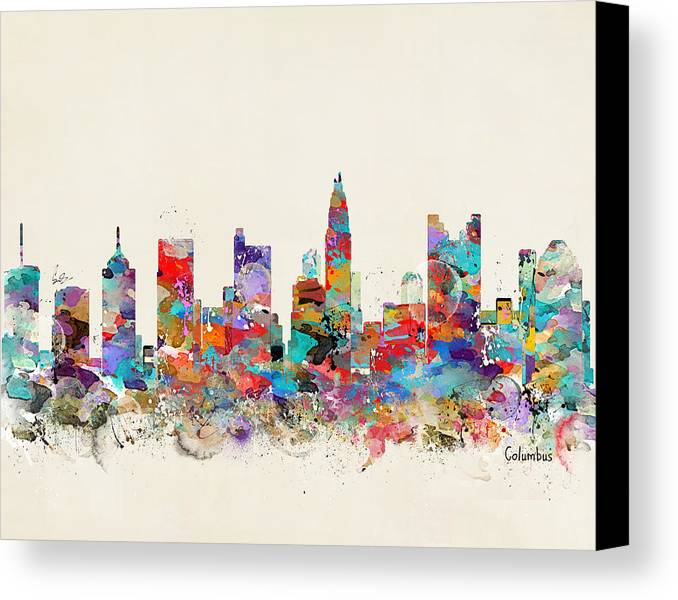 Painting Company Columbus Ohio: Columbus Ohio Skyline Canvas Print / Canvas Art By Bri B