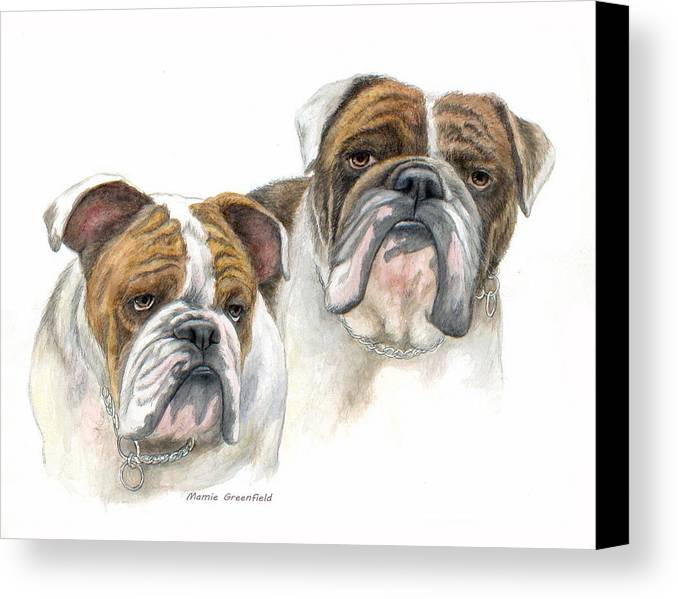 Portraits Canvas Print featuring the painting daBullies by Mamie Greenfield