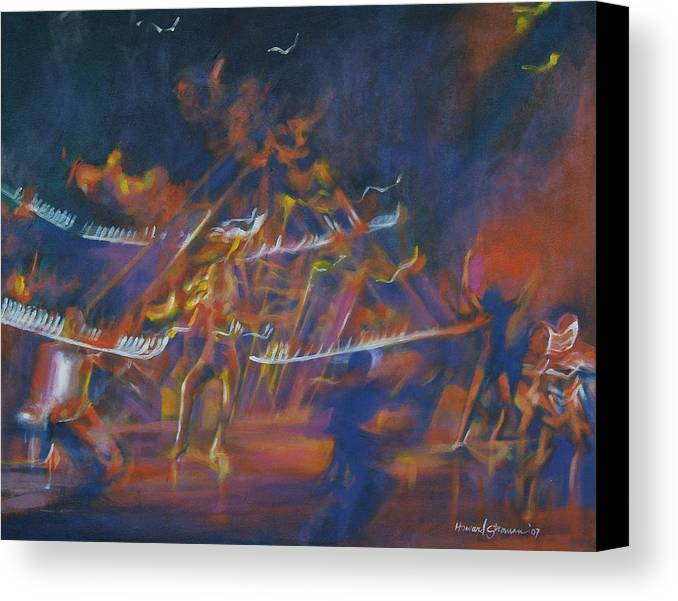 Music And Dance Canvas Print featuring the painting Dancin by Howard Stroman
