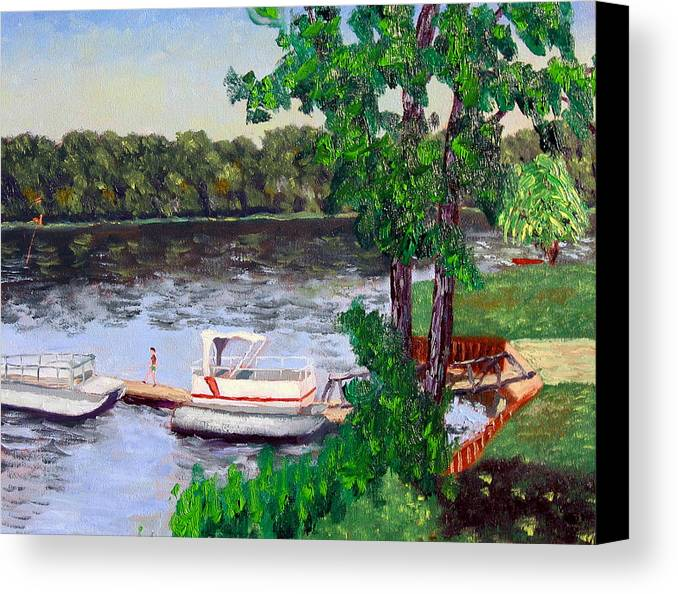 Original Oil On Canvas Canvas Print featuring the painting Ecsp 8-24 by Stan Hamilton