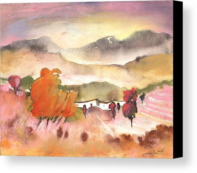 Travel Canvas Print featuring the painting Finca In Spain by Miki De Goodaboom
