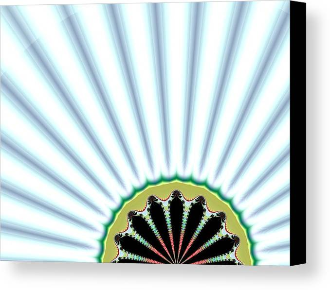 Digital Canvas Print featuring the digital art Floral Breeze by Thomas Smith