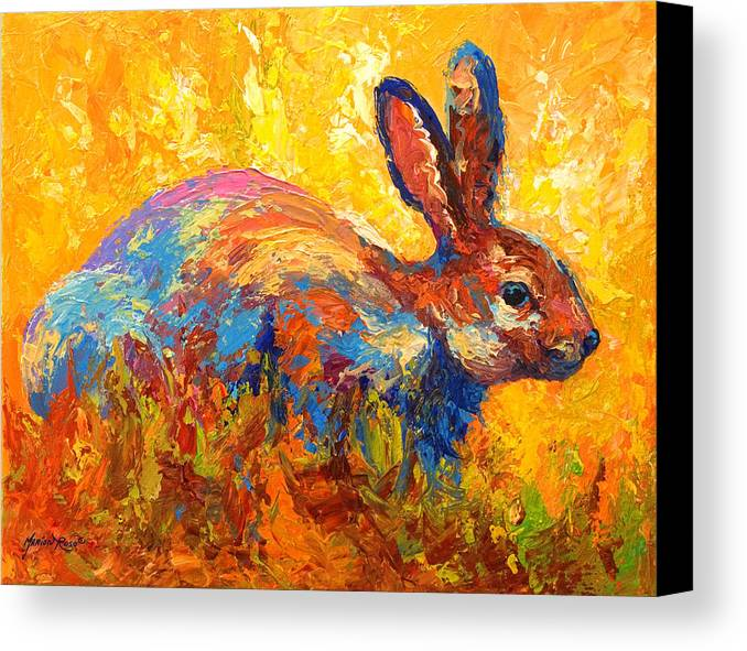 Rabbit Canvas Print featuring the painting Forest Rabbit II by Marion Rose