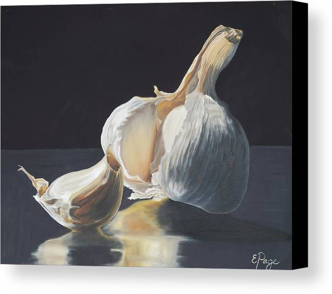 Realism Canvas Print featuring the painting Garlic II by Emily Page