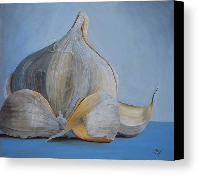 Realism Canvas Print featuring the painting Garlic IIi by Emily Page