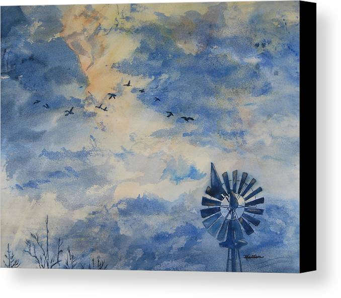 Landscape Canvas Print featuring the painting Going Home by Kris Dixon