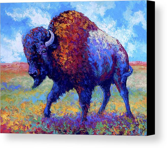 Bison Canvas Print featuring the painting Good Medicine by Marion Rose