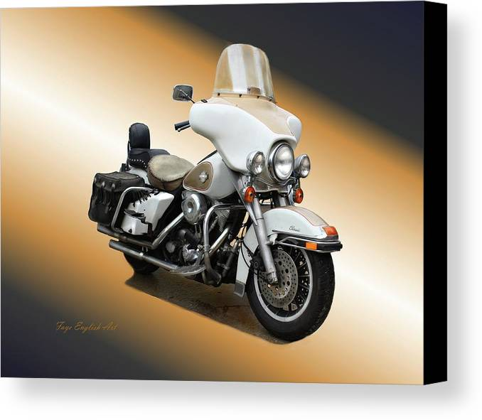 Harley Canvas Print featuring the digital art Harley Classic Gold by Faye English