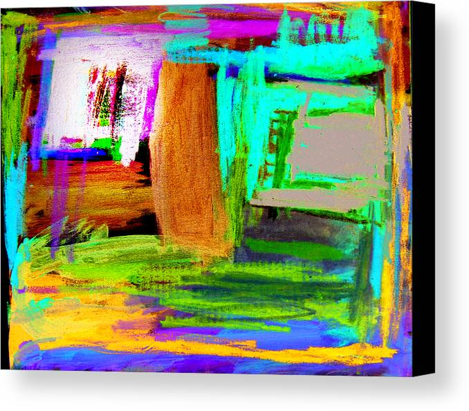 Abstract Canvas Print featuring the mixed media House by Alfred Resteghini