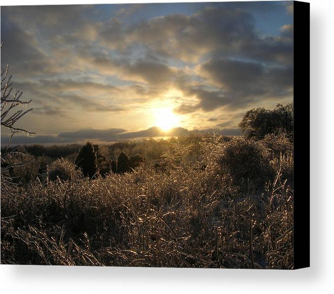 Landscape Canvas Print featuring the photograph Ice To Sun by Martie DAndrea